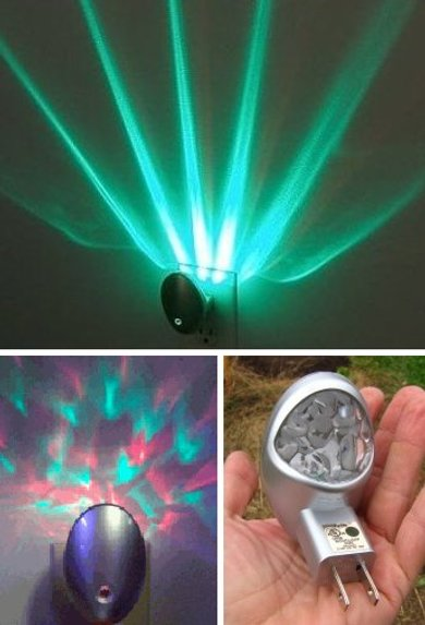 Automatic Nebula Projection L.E.D. night light by Meridian